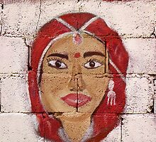Street Art Series d  Peaceful Woman by WhimsyvilleUSA