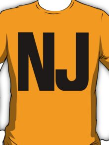 New Jersey NJ Black Ink T-Shirt