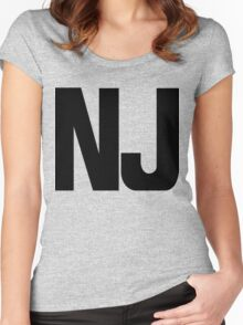 New Jersey NJ Black Ink Women's Fitted Scoop T-Shirt