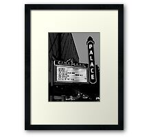 Movie Theater Neon Lights Framed Print