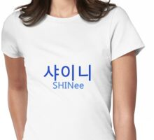 SHINee (Group Name - Blue) Womens Fitted T-Shirt