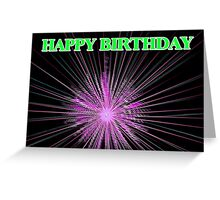 Birthday Fireworks Greeting Card