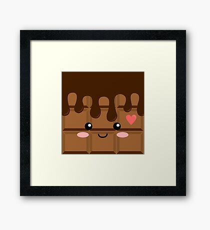 Cute Chocolate Framed Print