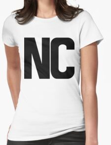 North Carolina NC Black Ink Womens Fitted T-Shirt