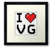 I Heart Video Games Framed Print