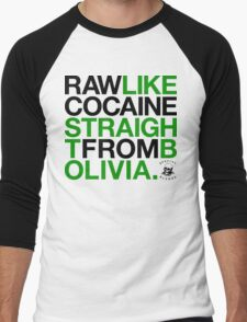 Raw Like Cocaine (v2) Men's Baseball ¾ T-Shirt