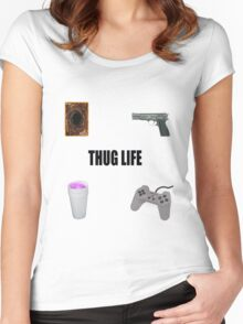 THUG LIFE. PT 2 Women's Fitted Scoop T-Shirt