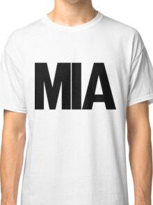 MIA Miami International Airport Black Ink Classic T-Shirt
