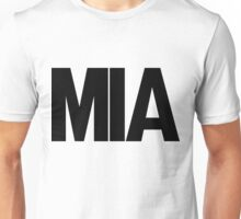 MIA Miami International Airport Black Ink Unisex T-Shirt