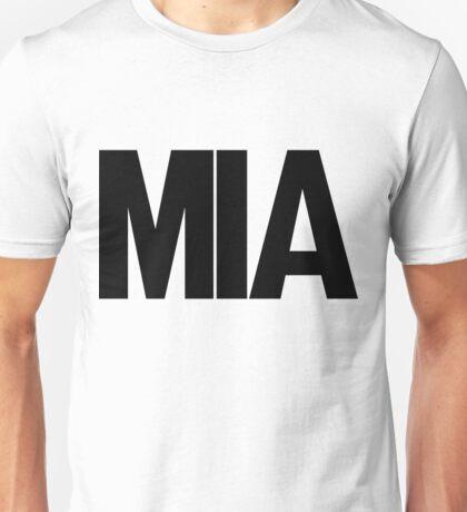 MIA Miami International Airport Black Ink Unisex T-Shirt