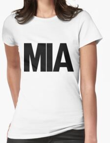 MIA Miami International Airport Black Ink Womens Fitted T-Shirt