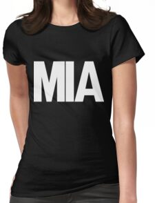 MIA Miami International Airport White Ink Womens Fitted T-Shirt