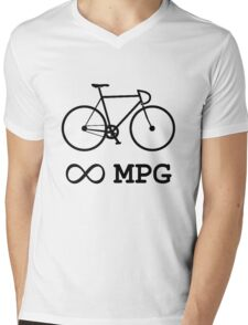 Bike Infinity MPG Bicycle Cycling Mens V-Neck T-Shirt