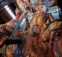 Guardians, Tianning Temple, Changzhou, Jiangsu by DaveLambert