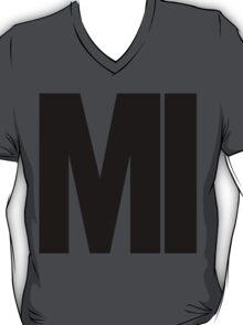 Michigan MI Black Ink T-Shirt
