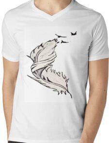 Free Flying Mens V-Neck T-Shirt