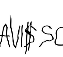 Travis Scott black logo Sticker