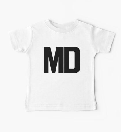 Maryland MD Black Ink Baby Tee