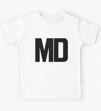 Maryland MD Black Ink Kids Tee
