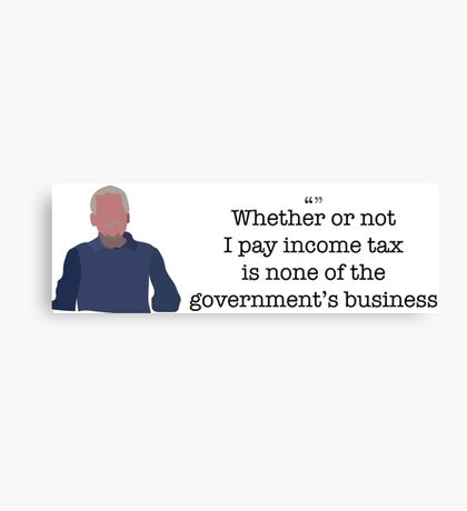 Income Tax Guy Parks and Recreation Canvas Print