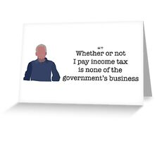 Income Tax Guy Parks and Recreation Greeting Card