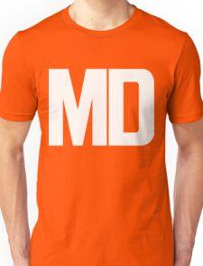 Maryland MD White Ink Unisex T-Shirt