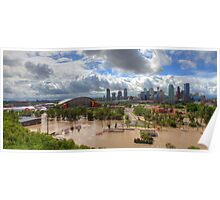 Calgary and Southern Alberta Flood 2013 - North End of Stampede Grounds Poster