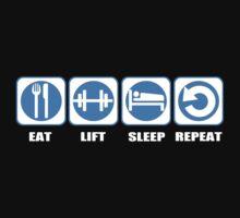 Eat Lift Sleep Repeat One Piece - Short Sleeve
