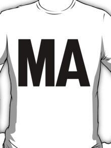 Massachusetts MA Black Ink T-Shirt