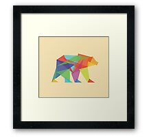 Fractal Geometric Bear Framed Print