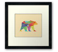 Fractal Geometric Bear Framed Print