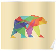 Fractal Geometric Bear Poster