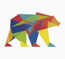 Fractal Geometric Bear Kids Clothes
