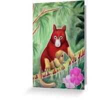 Red Tree Kangaroo Greeting Card