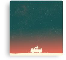 Quiet night starry sky Canvas Print