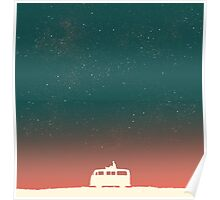 Quiet night starry sky Poster