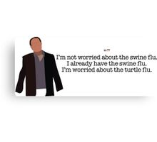 Turtle Flu Guy Parks and Recreation Canvas Print