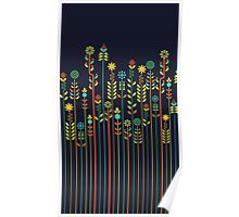 Overgrown flowers Poster