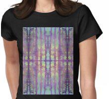 aqua violet drips Womens Fitted T-Shirt