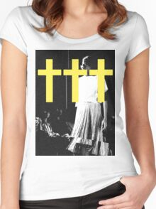 ††† (Crosses) - Yellow Variant Women's Fitted Scoop T-Shirt