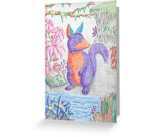 Exotic Squirrel Creature Greeting Card