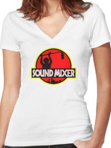 Sound Mixer Women's Fitted V-Neck T-Shirt
