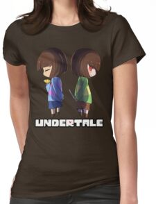 Undertale - chara and frisk Womens Fitted T-Shirt
