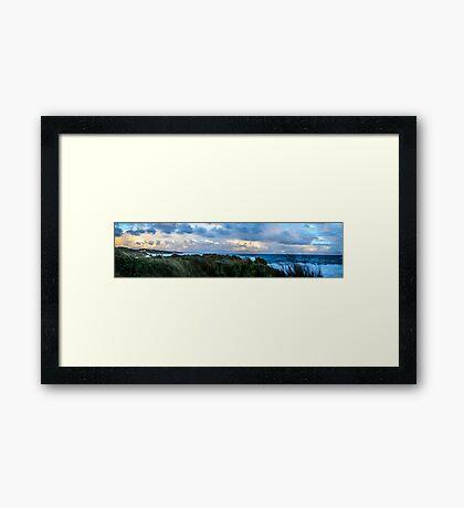 Pano Cliff Framed Print