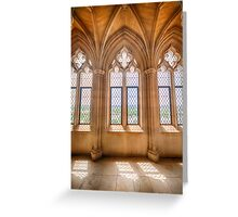 Cathedral Windows Greeting Card