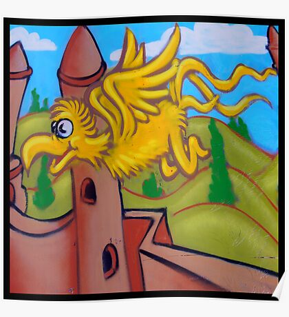 suesslike bird in flight (square) Poster