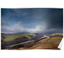 Ladybower Reservoir from Derwent Edge Poster