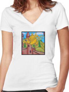 suesslike bird in flight (square) t Women's Fitted V-Neck T-Shirt