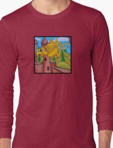 suesslike bird in flight (square) t Long Sleeve T-Shirt
