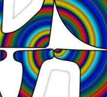 color spiral square love t Sticker